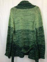 Vintage Brittania Sportswear Green Wrap Sweater Knit Cardigan Sz M image 3