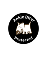 Ankle Biter Protected 3 inch x 3 inch Round Sticker - $3.50