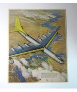 1950's Laminated Original Magazine Ad Print of the Consolidated B-36 Bom... - $9.99