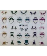 Nail Art 3D Decal Stickers Multicolored Christmas Hats Reindeer Ears Santa - $8.10