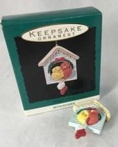 Hallmark  Snuggle Birds  1993  Miniature Keepsake Ornament - $10.19