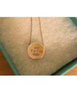 Rare Tiffany & Co 1837 Round Concave Slide Pendant Sterling Silver Retired - $350.16