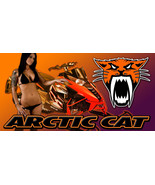 Arctic Cat Snowmobile Racing Snocross Garage Banner - Snow Chic #12 - $34.64
