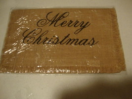 MERRY CHRISTMAS new Burlap Table Runner - 36 inch - $21.99