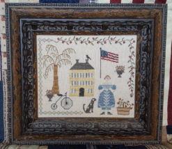 Liberty patriotic cross stitch chart Samplers N... - $14.40
