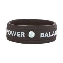 POWER BALANCE NEOPRENE WRISTBAND/BRACELET BLACK/SILVER LETTERS LARGE - $9.77