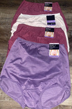 BALI ~ 4-Pair Women's Nylon Brief Underwear Panties Skimp Skamp ~ M/6 - $28.97