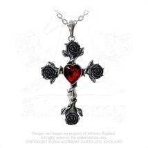 Black Rosifix Necklace by Alchemy Gothic - $59.95