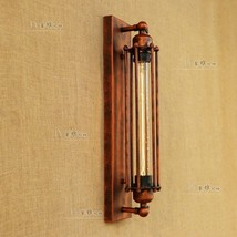 Grand Edison Sconce Pencil Cage Wall Lamp T30 Bulb Rustic Cafe Lighting Fixture - $62.72