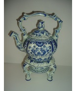 Boch Belgium Amsterdam Tea Pot or Kettle on Stand - $119.99