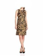 Anne Klein Dress Sz 12 Black Khaki Sleeveless Sheath Business Dinner Dress - $64.90