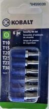 Kobalt 0459039 6 Piece Security Bit Torx Set T10 - T30 - $3.22