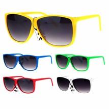 Womens Hipster Pop Color Oversize Rubberized Matte Retro Gradient Sungla... - $6.95
