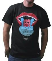 IM King Noir Hommes Paix Sortie Minou Eat Sortie T-Shirt USA Fabriqué Nwt