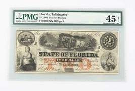 1864 Confederate Note CXF-45 EPQ PMG Choice Extra Fine Tallahassee CSA R... - $490.68