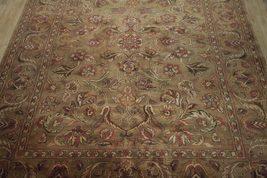 Densely Knotted Genuine Handmade 9 x 13 Brown Jaipur Wool Rug image 12
