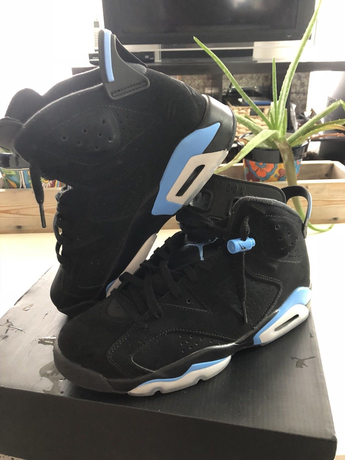 d9368c1b1ea33e Nike Air Jordan Retro 6 Vi UNC Black and 50 similar items