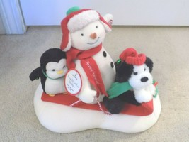 Hallmark Jingle Pals Animated Singing Snow What Fun Sledders w/Tag-FREE ... - $29.69