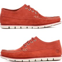 Timberland Men's Tidelands Ranger MOC Casual Medium Red Suede Shoes A1HA4 USA - £50.37 GBP