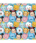 """Disney Tsum Mickey & Friends Packed 100% cotton Fabric Remnant 32"""" - $6.30"""