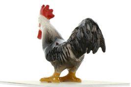 Hagen Renaker Miniature Chicken Leghorn Rooster Black Ceramic Figurine image 6
