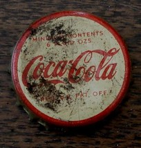 Nice Vintage Tin/Cork Coca Cola Bottle Cap, Older Cap, Good Condition - $2.96