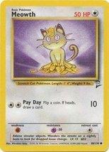 Pokemon - Meowth (80) - Base Set 2 - $1.77