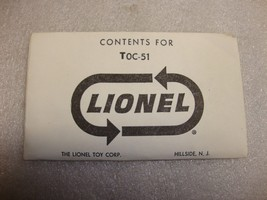 Lionel Postwar TOC-51 Sealed Packets One Dozen Steel Track Pins Mint Envelope - $2.75