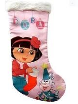 """Nickelodeon Dora 15"""" Pink Satin Christmas Stocking Made by Kurt S. Adler - $10.99"""