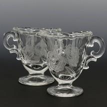 Fostoria Camellia Creamer and Sugar Set Elegant American Glass