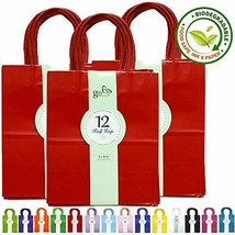 36CT Red Color Kraft Paper Gift Bags Bulk with Handles [ Ideal for Shopp... - $60.74