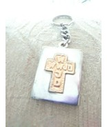 WWJD What Would Jesus Do 2 Tone Cross Key Chain - $4.00