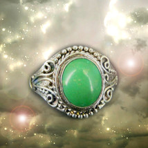 Haunted RING HALLOWEEN FORTUNE TELLER'S PREDICTS WINS FORTUNES SAMHAIN M... - $303.33