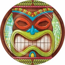 Tiki Time 8 Ct Dessert Cake Paper Plates Summer Pool Party Luau - $3.89