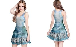 Parkway drive waves reversible dress for women thumb200