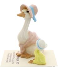 Hagen-Renaker Miniature Ceramic Bird Figurine Goose Pink Mother and Sister Set image 4