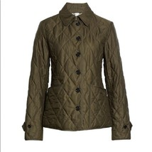 new BURBERRY Fernleigh Thermoregulated Diamond Quilted Jacket in Dark Ol... - $533.50
