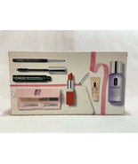 NEW Clinique Merry & Bright 7 pc Gift Set Mascara Quickliner Shadow Quad... - $32.66