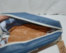 TPO Brand MP0005BL Hope Tan Cork Blue Jean Color Canvas Travel Makeup Pouch image 3