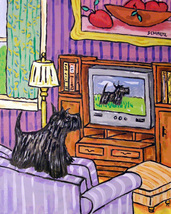 animal Art oil painting printed on canvas home decor  scottish terrier  - $14.99+
