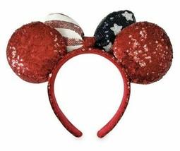 Disney Parks Stars Stripes Americana Minnie Ears Headband Flag Patriotic... - $14.01
