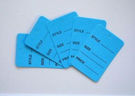 2000 Blue Merchandise Price Jewelry Garment Store Paper Small Tags 4.5x2... - $21.34