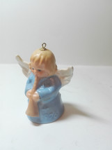 Goebel angel bell ornament W. Germany 1976 playing a horn - $16.15