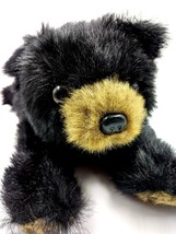 Bearington Collection Lay Down Black Teddy Bear Cub Bean Plush Tan Paws ... - $11.30