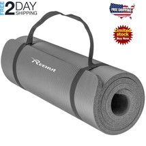 1/2-Inch Extra Thick High Density NBR Exercise Yoga Mat For Pilates, Fit... - $20.78