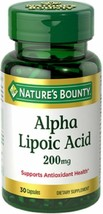 Nature's Bounty Alpha Lipoic Acid 200 mg Capsules 30 - $10.15