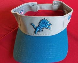 New Era Nfl Detroit Lions Blue Gray Design Unisex Football Visor New - $20.00