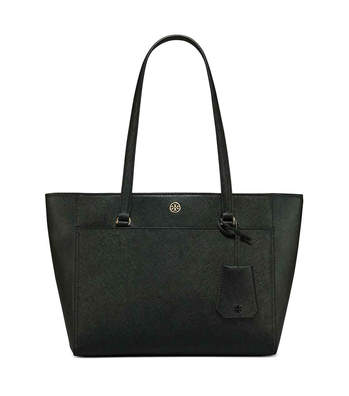 Tory Burch Robinson Small 3 Chamber Saffiano Leather Shoulder Pocket Tote New