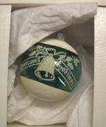 Radko Christmas Ornament Shiny Brite Christmas Greetings Green White Flo... - $7.99