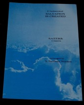 Salvation Is Created, P. Tschesnokoff, N. Lindsay Norden 1970, SHEET MUSIC - $5.93